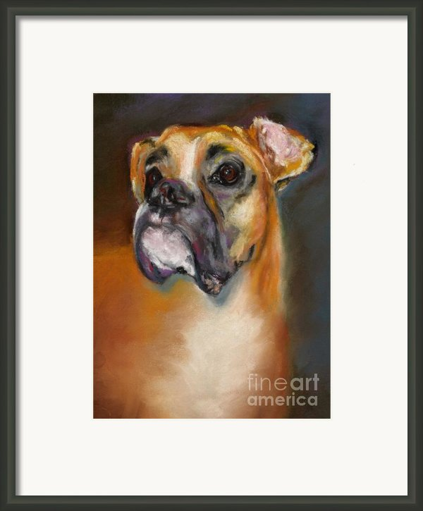 Sam Framed Print By Frances Marino