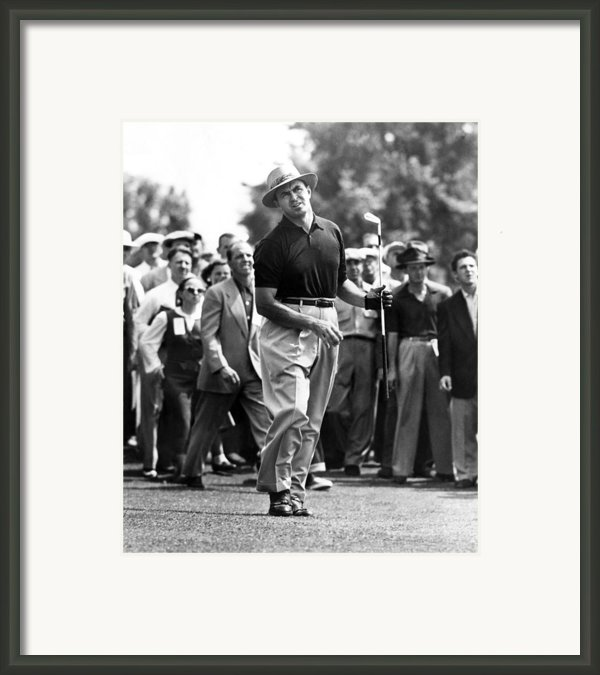 Sam Snead 1912-2002, American Golfer Framed Print By Everett