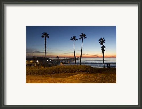 San Clemente Pier At Sunset Framed Print By Barbara Eads