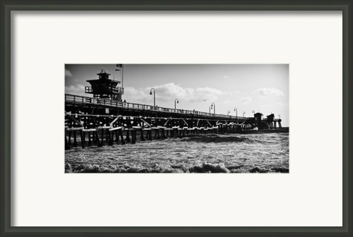 San Clemente Pier In Late Winter Framed Print By Richard Daugherty