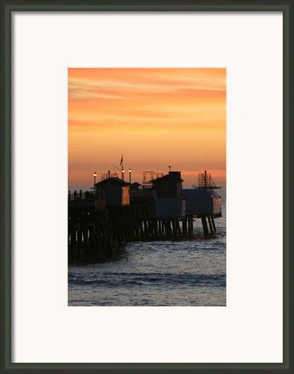 San Clemente Pier Sunset Framed Print By Brad Scott