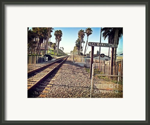 San Clemente Train Tracks Framed Print By Traci Lehman