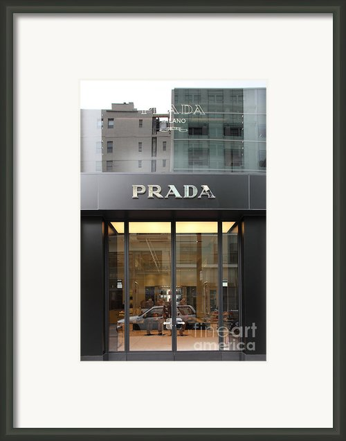 San Francisco - Maiden Lane - Prada Fashion Store - 5d17798 Framed Print By Wingsdomain Art And Photography