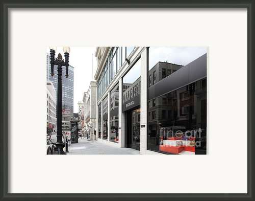 San Francisco - Maiden Lane - Prada Italian Fashion Store - 5d17800 Framed Print By Wingsdomain Art And Photography
