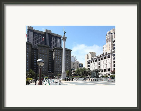 San Francisco - Union Square - 5d17933 Framed Print By Wingsdomain Art And Photography