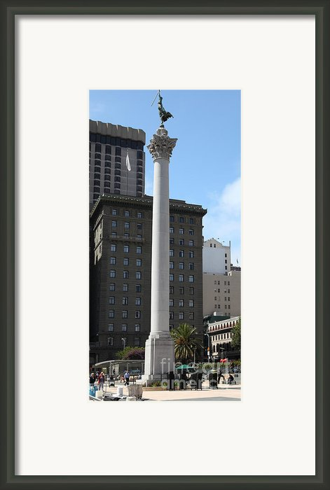 San Francisco - Union Square - 5d17934 Framed Print By Wingsdomain Art And Photography