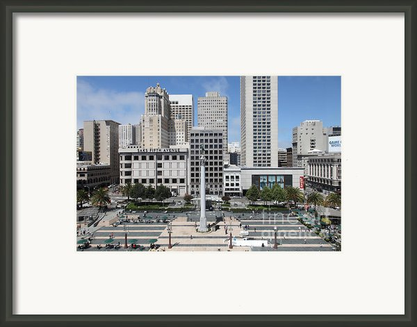 San Francisco - Union Square - 5d17938 Framed Print By Wingsdomain Art And Photography