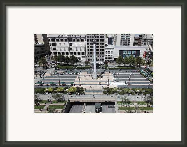 San Francisco - Union Square - 5d17942 Framed Print By Wingsdomain Art And Photography
