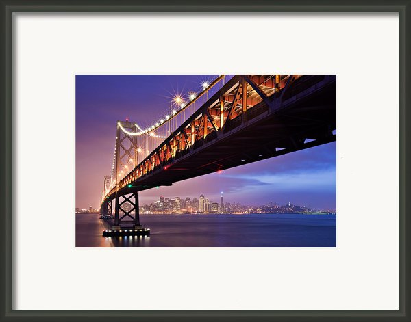 San Francisco Bay Bridge Framed Print By Photo By Mike Shaw