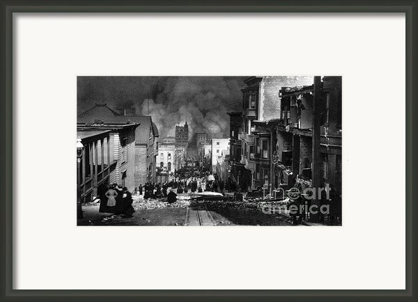 San Francisco Burning After 1906 Framed Print By Science Source