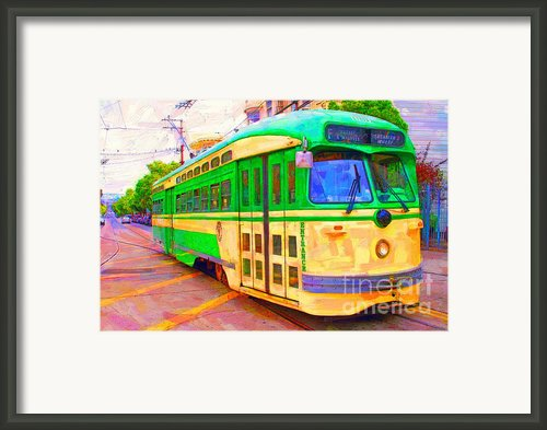 San Francisco F-line Trolley Framed Print By Wingsdomain Art And Photography
