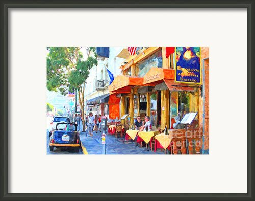 San Francisco North Beach Outdoor Dining Framed Print By Wingsdomain Art And Photography