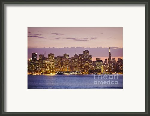 San Francisco Skyline Framed Print By Bryan Mullennix