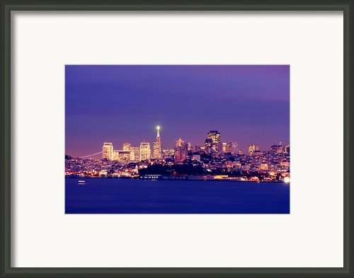 San Francisco Skyline Framed Print By Kevin Ho