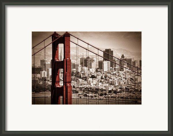 San Francisco Through The Bridge Framed Print By Matt  Trimble