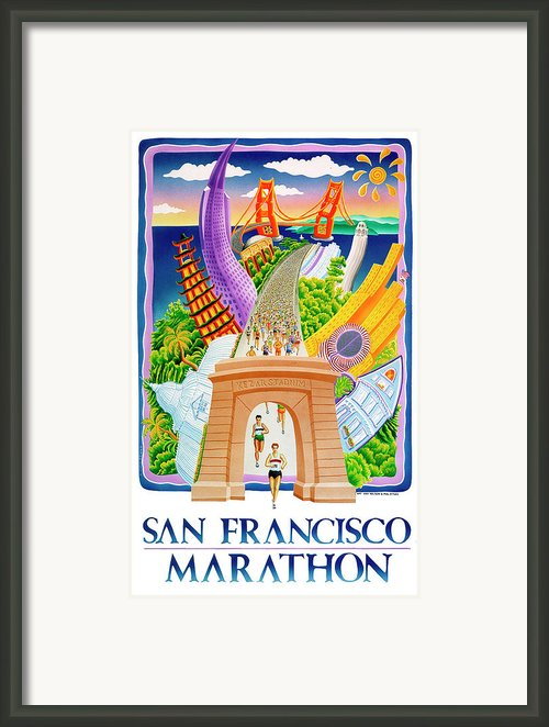 San Francisco View Framed Print By Phil Dynan