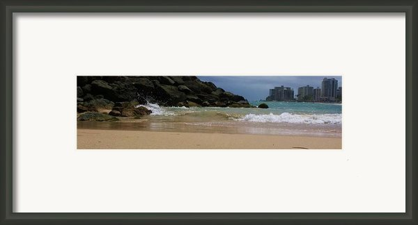 San Juan Beach 7 Framed Print By Anna Villarreal Garbis