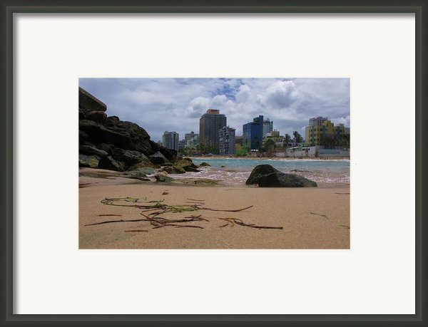 San Juan Beach Iv Framed Print By Anna Villarreal Garbis