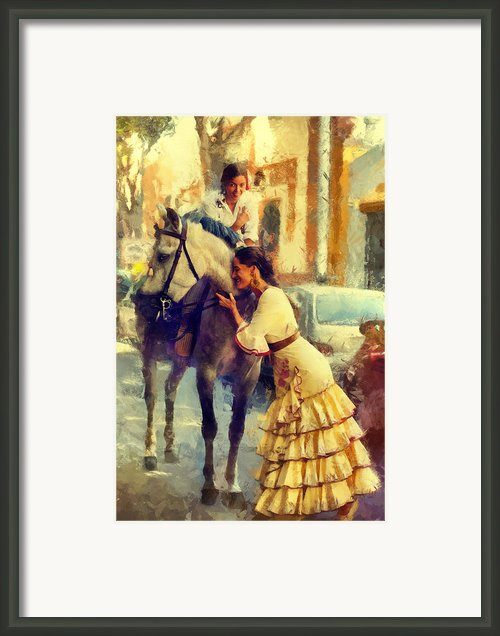 San Miguel Fair In Torremolinos Framed Print By Jenny Rainbow