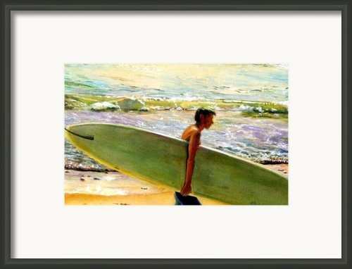 San O Man Framed Print By Kathy Dueker