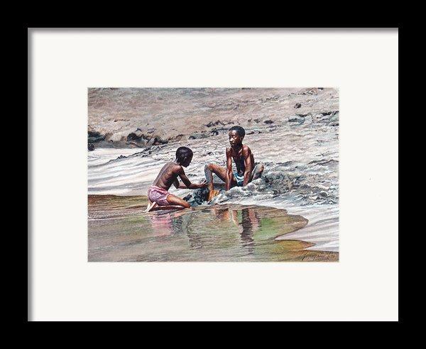 Sand Castle Framed Print By Gregory Jules