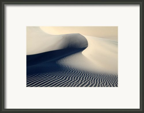 Sand Dunes Patterns In Death Valley Framed Print By Pierre Leclerc