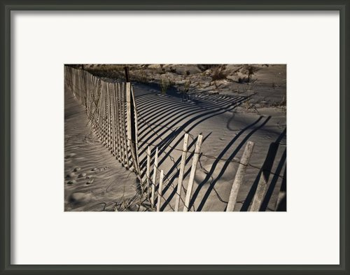 Sand Fence Framed Print By Joel P Black