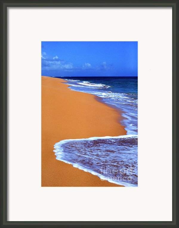 Sand Sea Sky Framed Print By Thomas R Fletcher