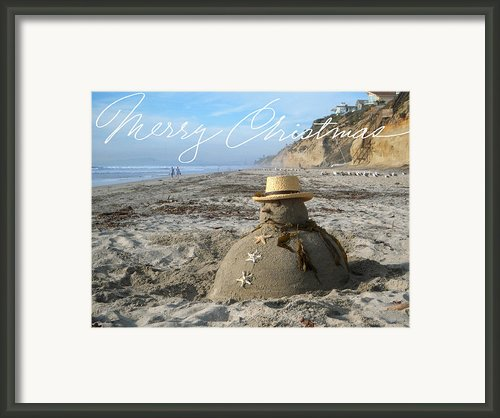 Sandman Snowman Framed Print By Mary Helmreich