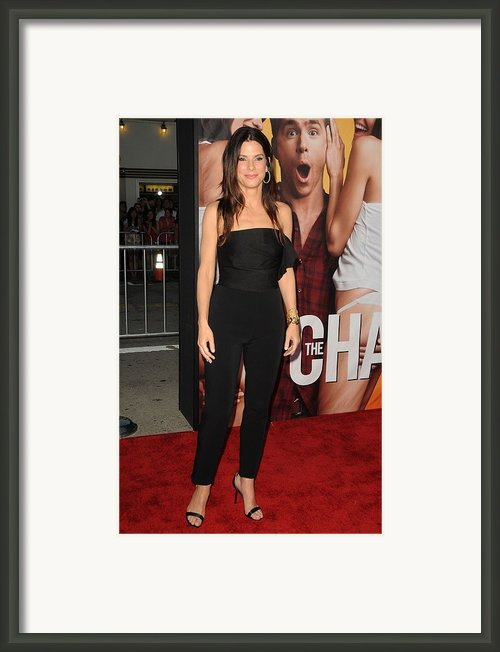 Sandra Bullock Wearing A Lanvin Framed Print By Everett