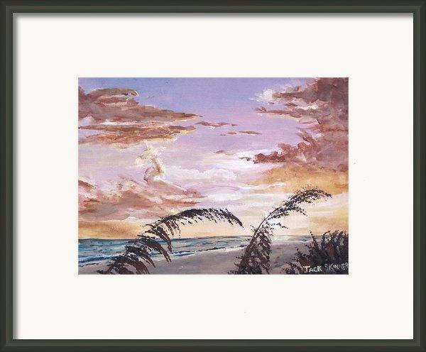 Sanibel Island Sunset Framed Print By Jack Skinner