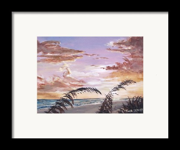 Sanibel Island Sunset Framed Print By Jack Skinner