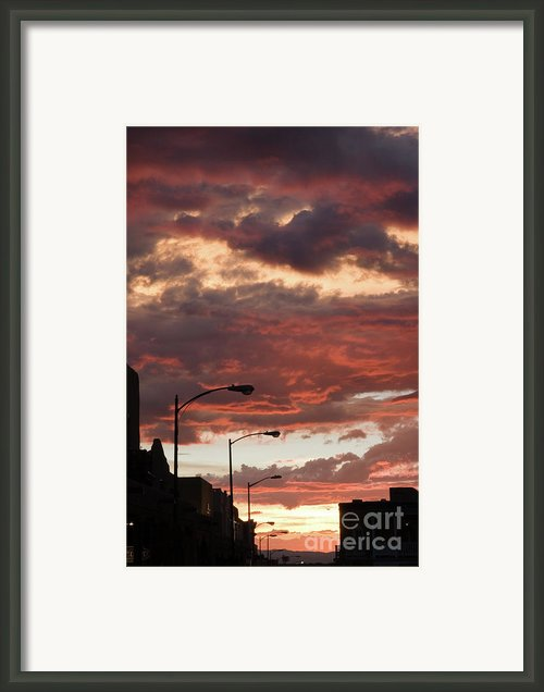 Santa Fe At Dusk New Mexico Framed Print By Julia Hiebaum