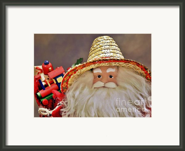Santa Is A Gardener Framed Print By Christine Till
