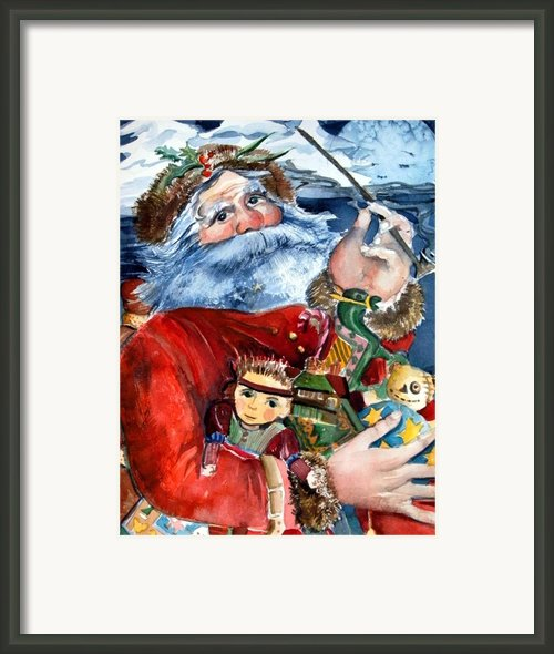 Santa Framed Print By Mindy Newman