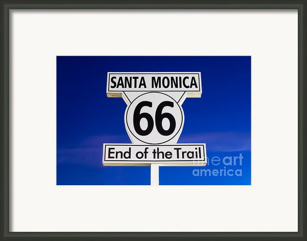 Santa Monica Route 66 Sign Framed Print By Paul Velgos