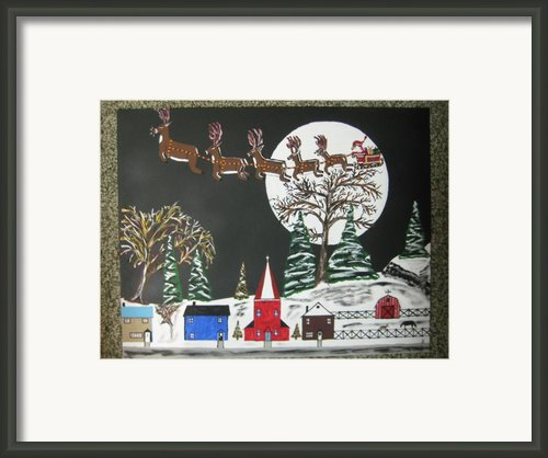 Santa Over Spring Garden Framed Print By Jeffrey Koss