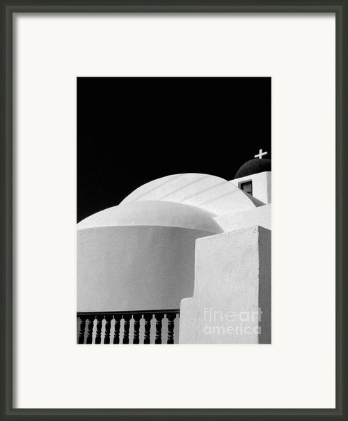 Santorini Black And White Framed Print By Julie Palencia
