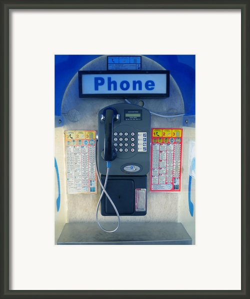Santorini Island Greece Telephone Box Framed Print By Colette V Hera  Guggenheim