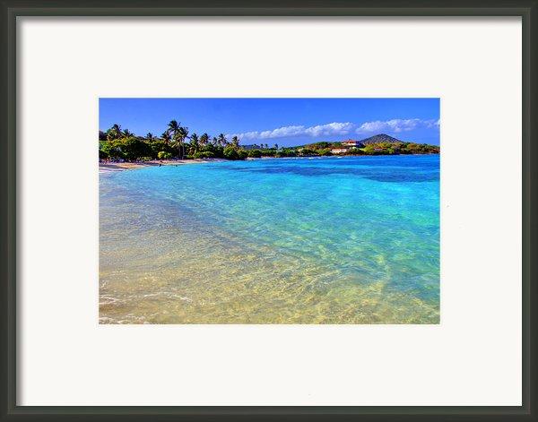 Sapphire Glow Framed Print By Scott Mahon
