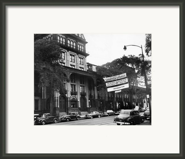 Saratoga Springs, New York, Circa 1950s Framed Print By Everett
