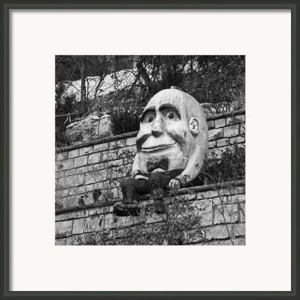 Sat On A Wall Framed Print By David Waldo