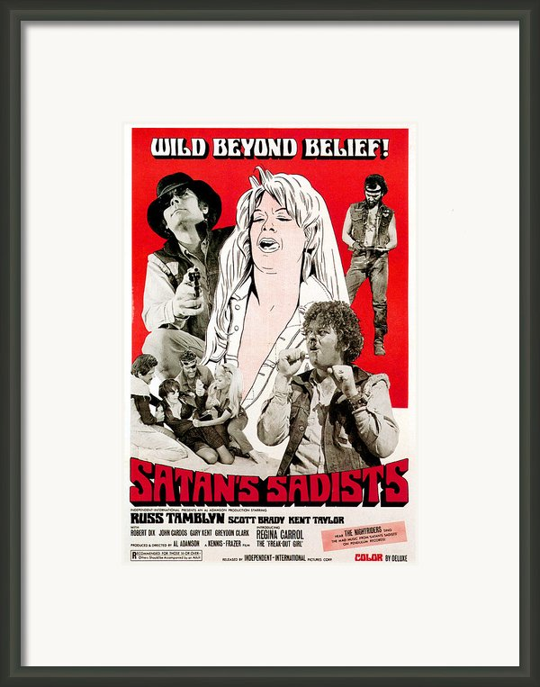Satans Sadists, Russ Tamblyn Bottom Framed Print By Everett
