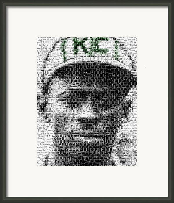 Satchel Paige Kc Monarchs African American Mosaic Framed Print By Paul Van Scott