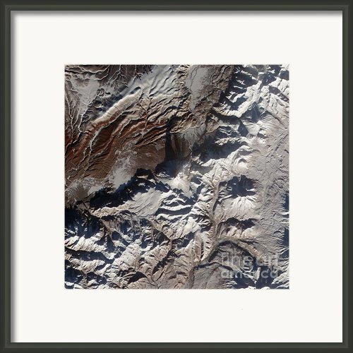 Satellite Image Of Russias Kizimen Framed Print By Stocktrek Images