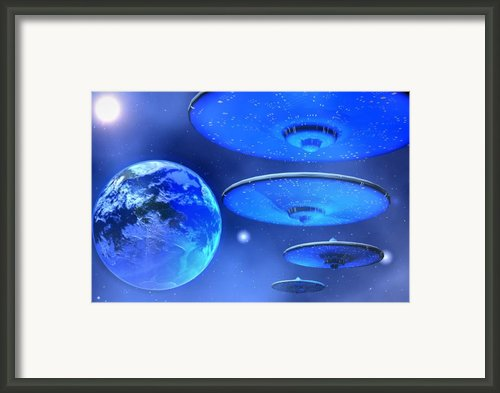 Saucers Framed Print By Corey Ford