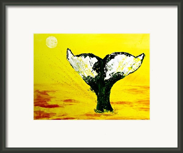 Save The Whales Framed Print By Eric Chapman