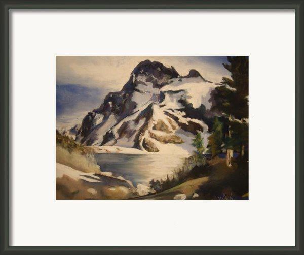 Sawtooth Mountain Lake Framed Print By Debbie Anderson