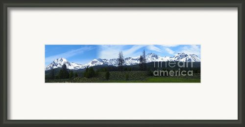 Sawtooth Mountain Range Panorama - Magnificent Outdoors Framed Print By Photography Moments - Sandi