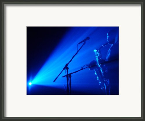 Sax In Blue Framed Print By Anthony Citro